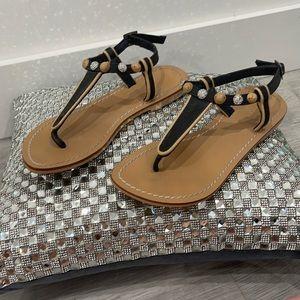 Skemo sandals with rhinestone embellishments
